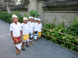 When asked for a picture these Balinese boys arranged themselves according to their size and proudly posed for the photograph.